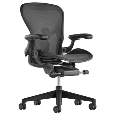 home desk chairs grey linen chair modern office at lumens com aeron size b graphite