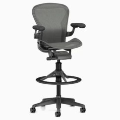 White Aeron Chair Rubbermaid Shower Replacement Parts Stool Bar Heightand Carbon By Herman Miller At Lumens Com Shown In Satin Finish With Adjustable Posturefit Sl Support