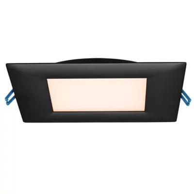 super thin led 6 inch square recessed trim