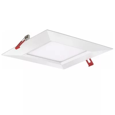 wafer 8 inch square smooth led recessed trim