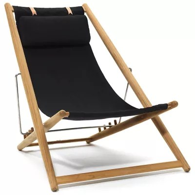 outdoor folding lounge chairs chair fold out bed h55 by skargaarden at lumens com shown in sunbrella black