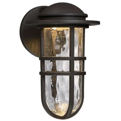 steampunk led indoor outdoor wall sconce