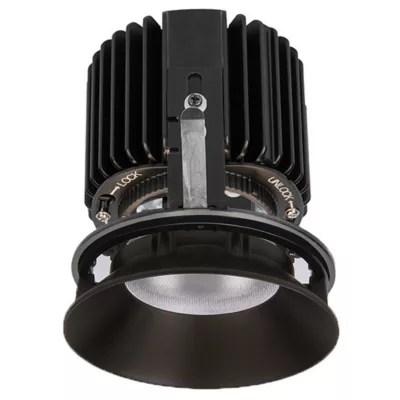wac lighting volta 45 adjustable trimless downlight r4sal f930 bk