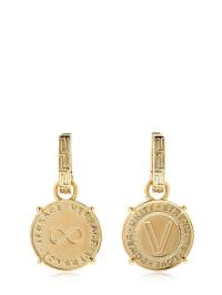 VERSACE Coin Earrings, Gold