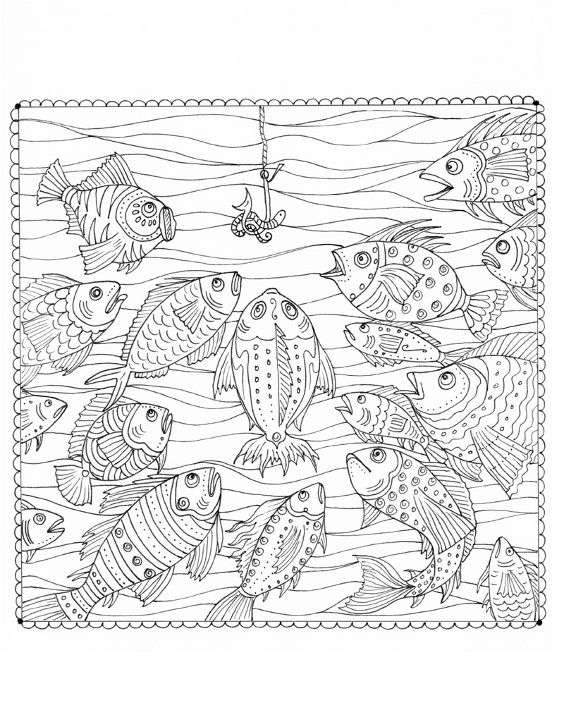 Zendoodle Coloring Under The Sea Deborah Muller Macmillan