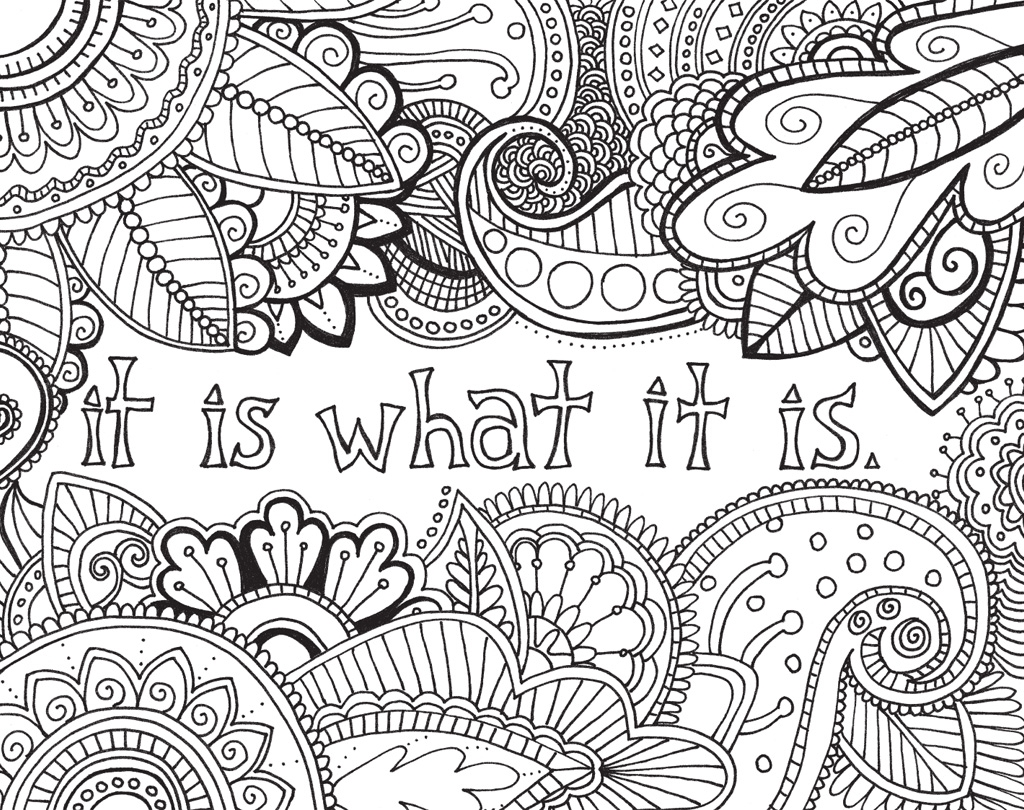 Free Inspirational Adult Coloring Page