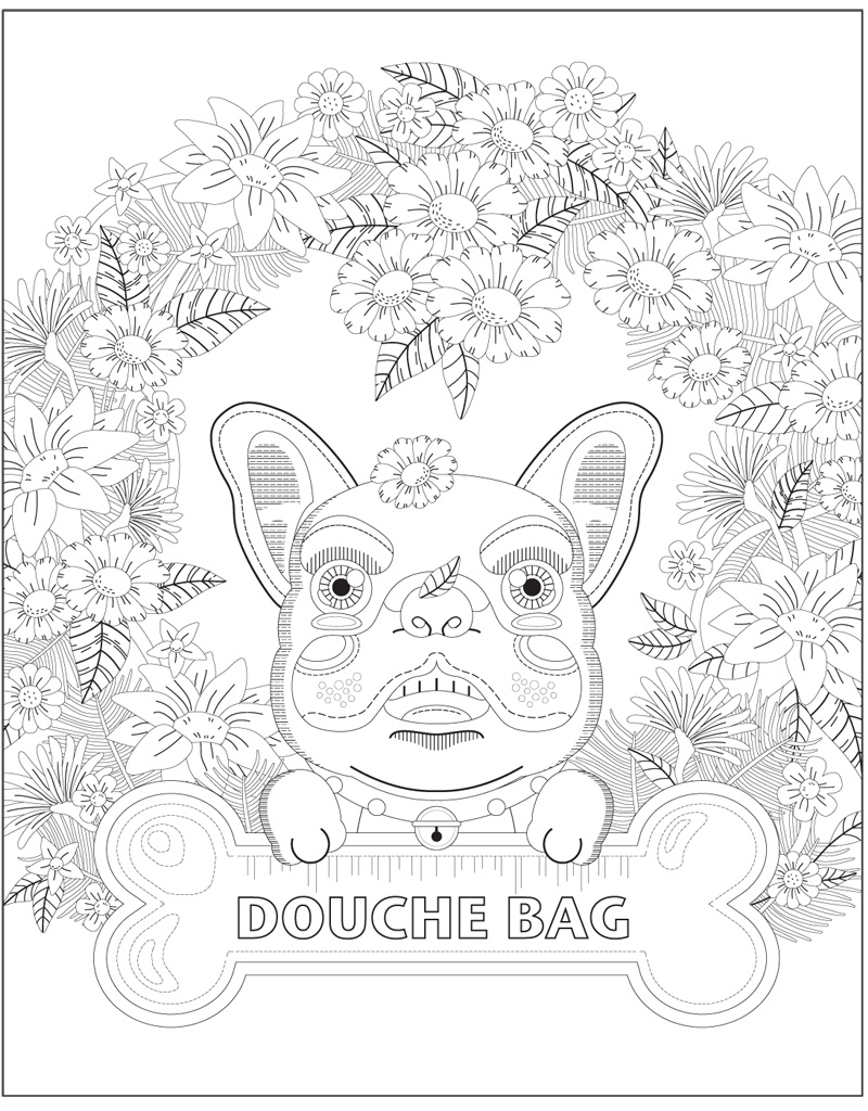Swear Word Coloring Book Free Sketch Coloring Page