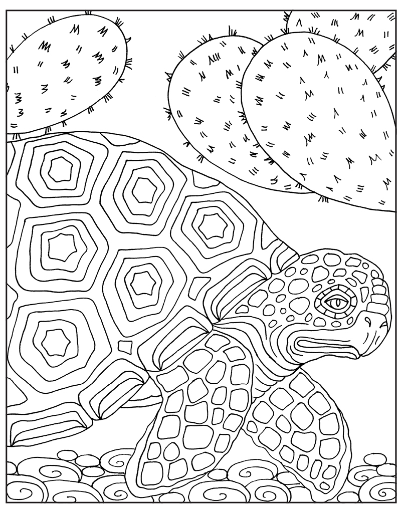 Zendoodle Coloring Big Picture: Magnificent Animals