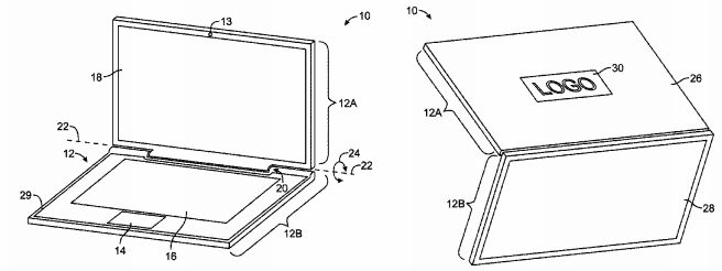 Solar-Powered Laptop with Dual-Sided Display Detailed in