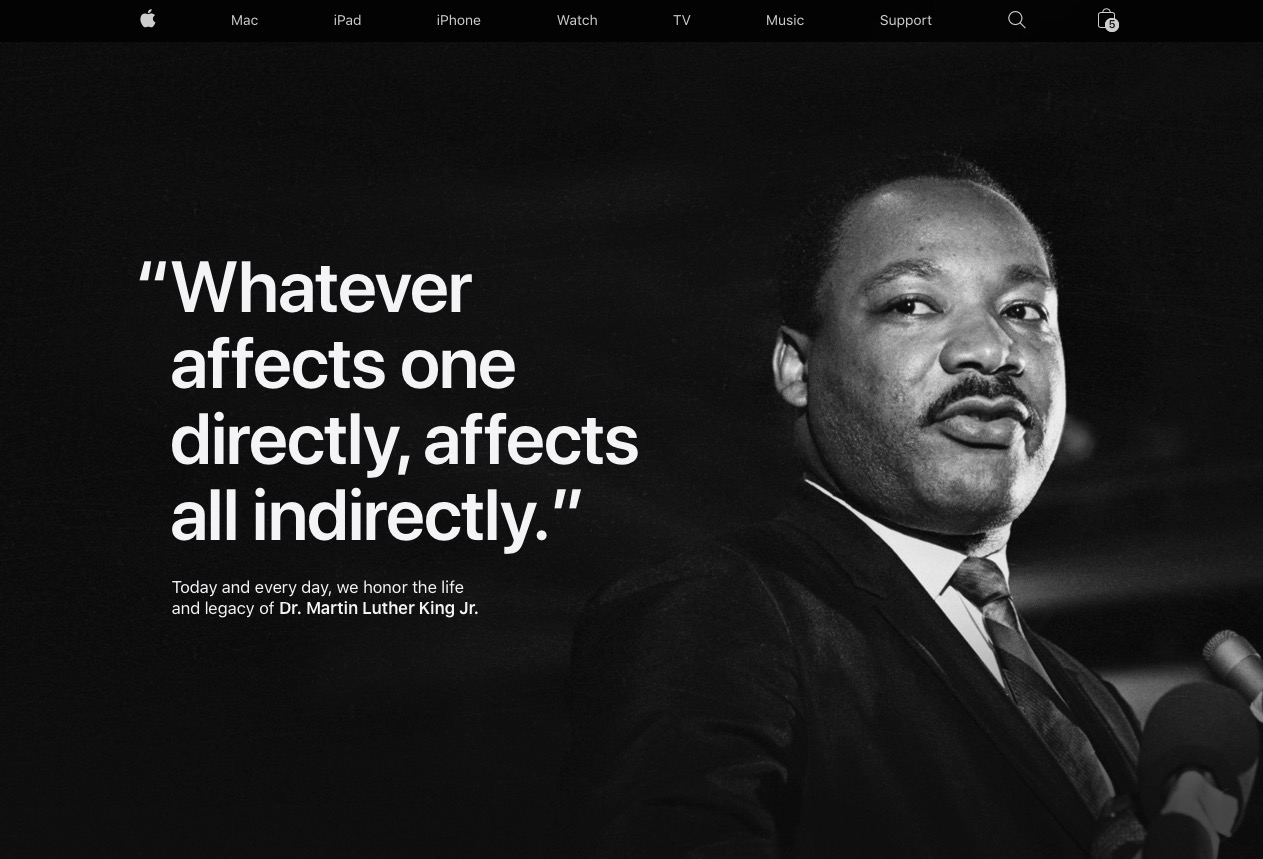 Apple And Tim Cook Commemorate Dr Martin Luther King Jr