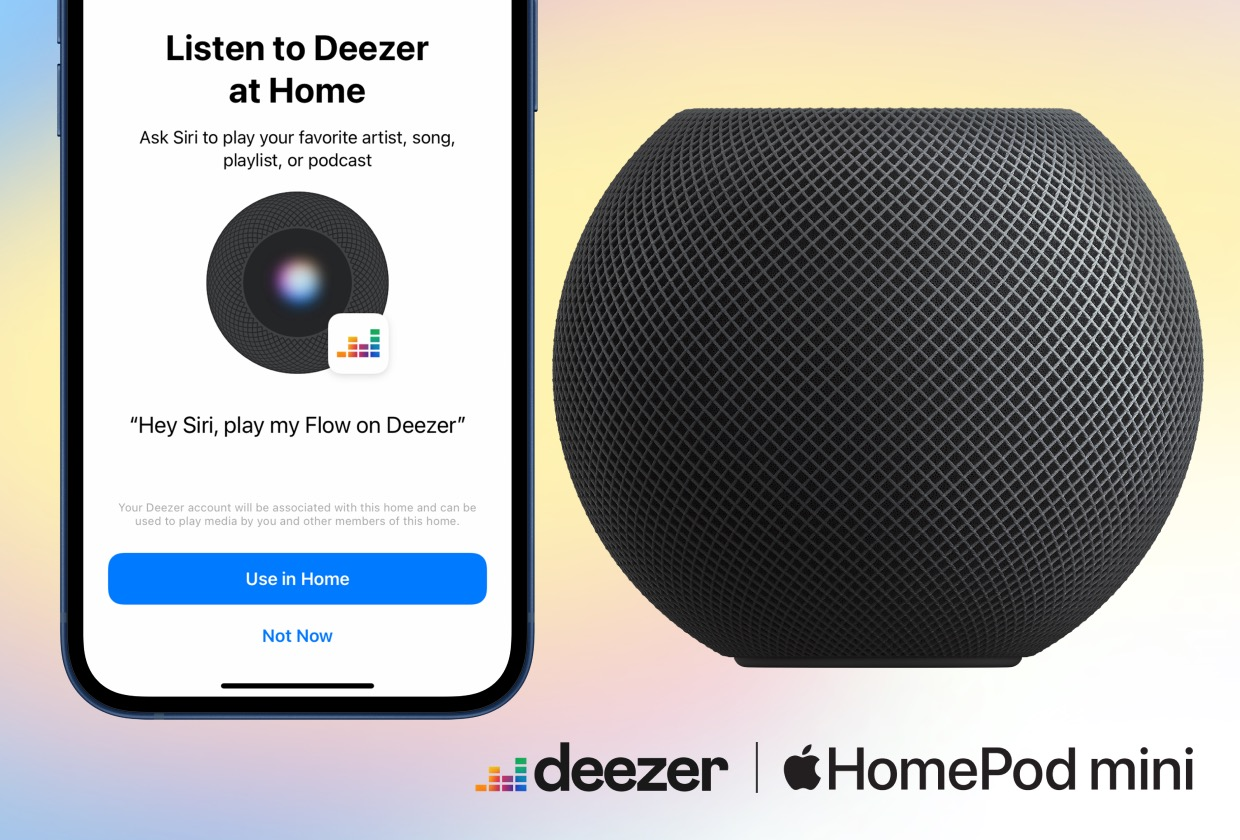 Deezer Announces Siri Voice Control Support for HomePod