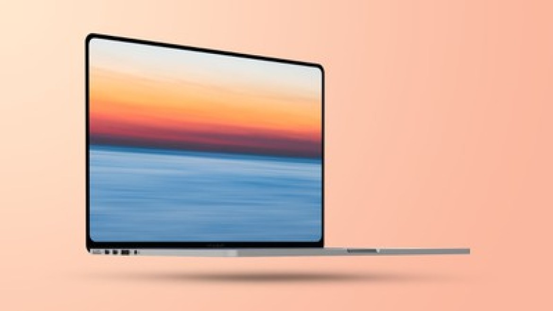 Flat 2021 MacBook Pro Mockup Feature 1