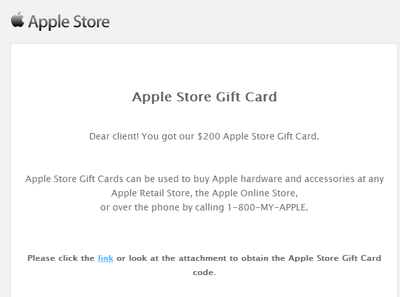 The aadhaar number is unique to citizens of india willing to apply for the program. Malicious Apple Store Gift Card Scam Emails Target Users With Malware Macrumors