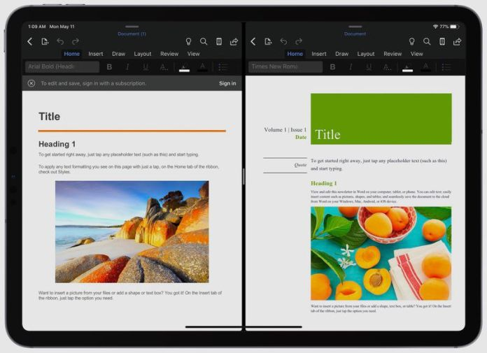 Microsoft Word and PowerPoint for iPad Now Support Split View ...