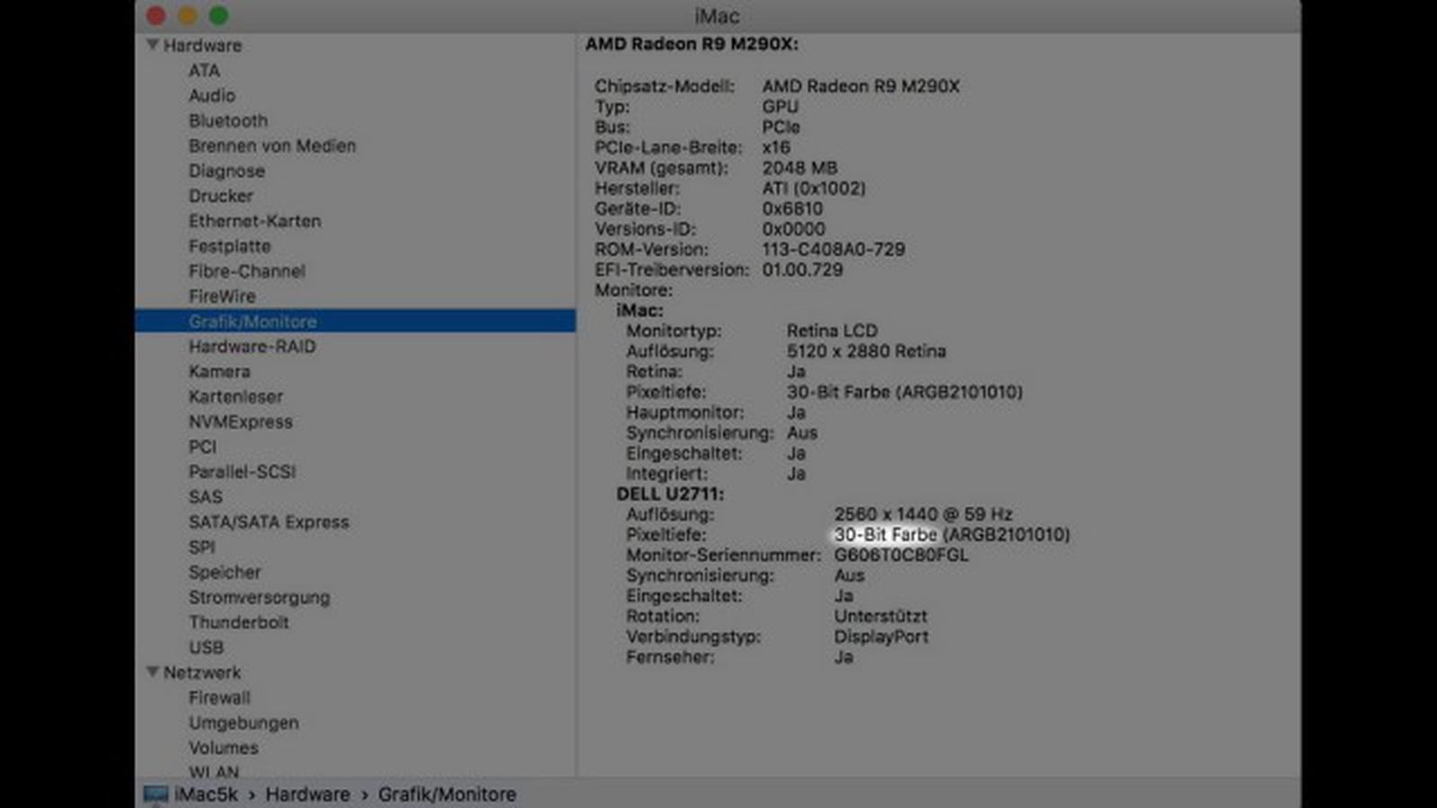 4K and 5K iMacs Support 10-Bit Color Depth on OS X El