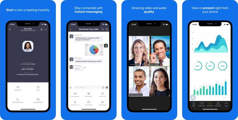 zoomios - تطبيق Zoom لعقد الاجتماعات عن طريق مكالمات الفيديو