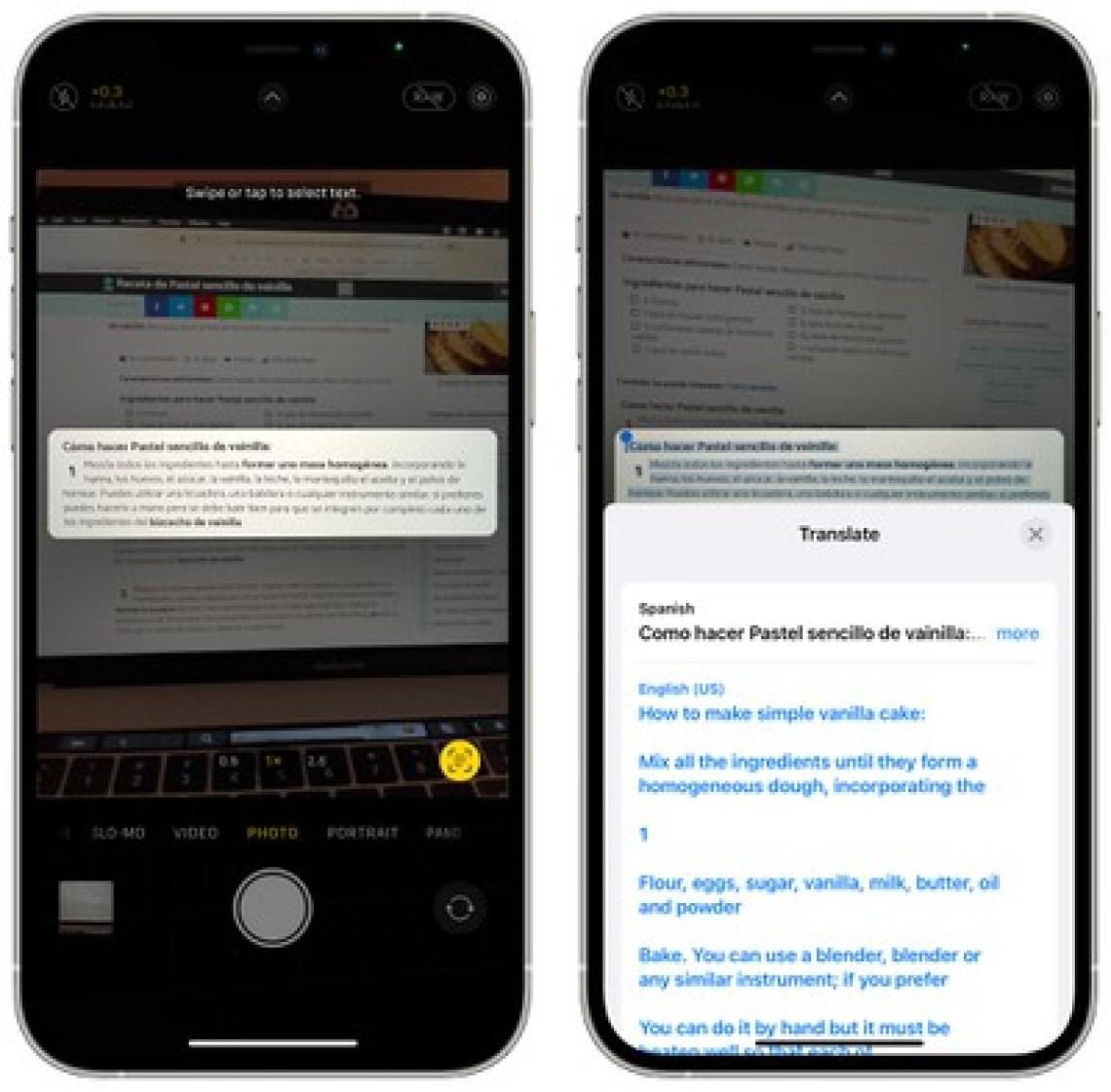 live text translation ios 15