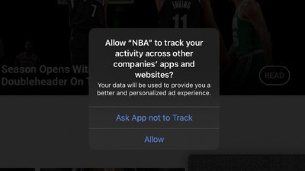 nba app tracking transparency prompt ios 14 4