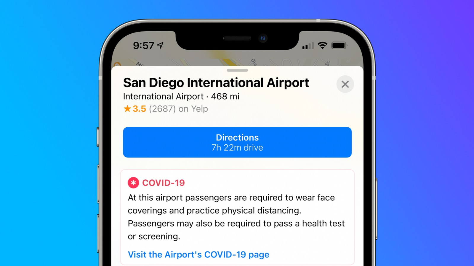 Apple Maps now shows airport guidelines for Covid-19 worldwide - Visualistan