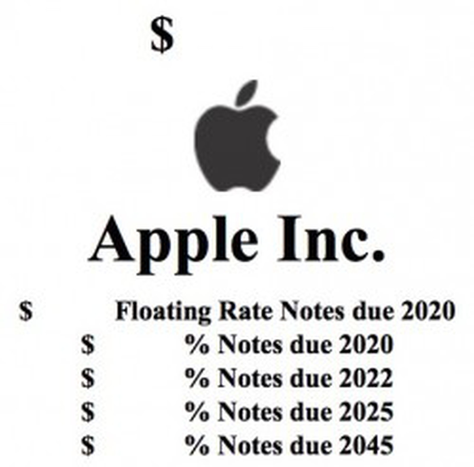 Apple Planning to Raise Reported $5 Billion in Bond Sale