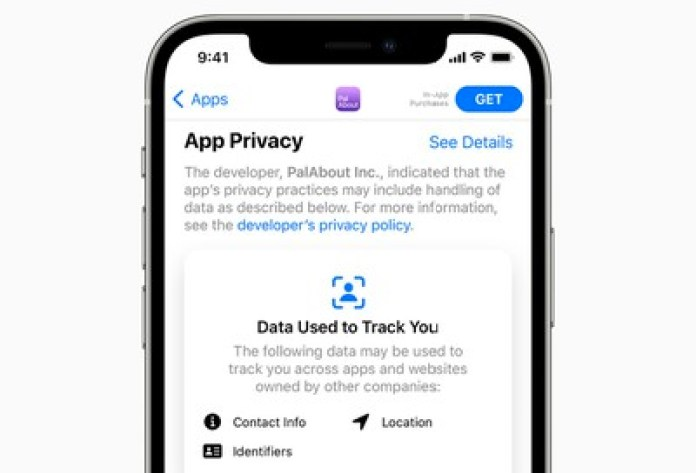 app store privacy labels iphone 12
