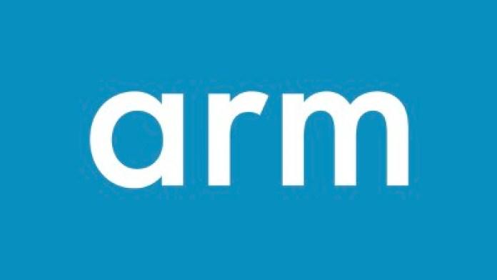 arm logo blue bg