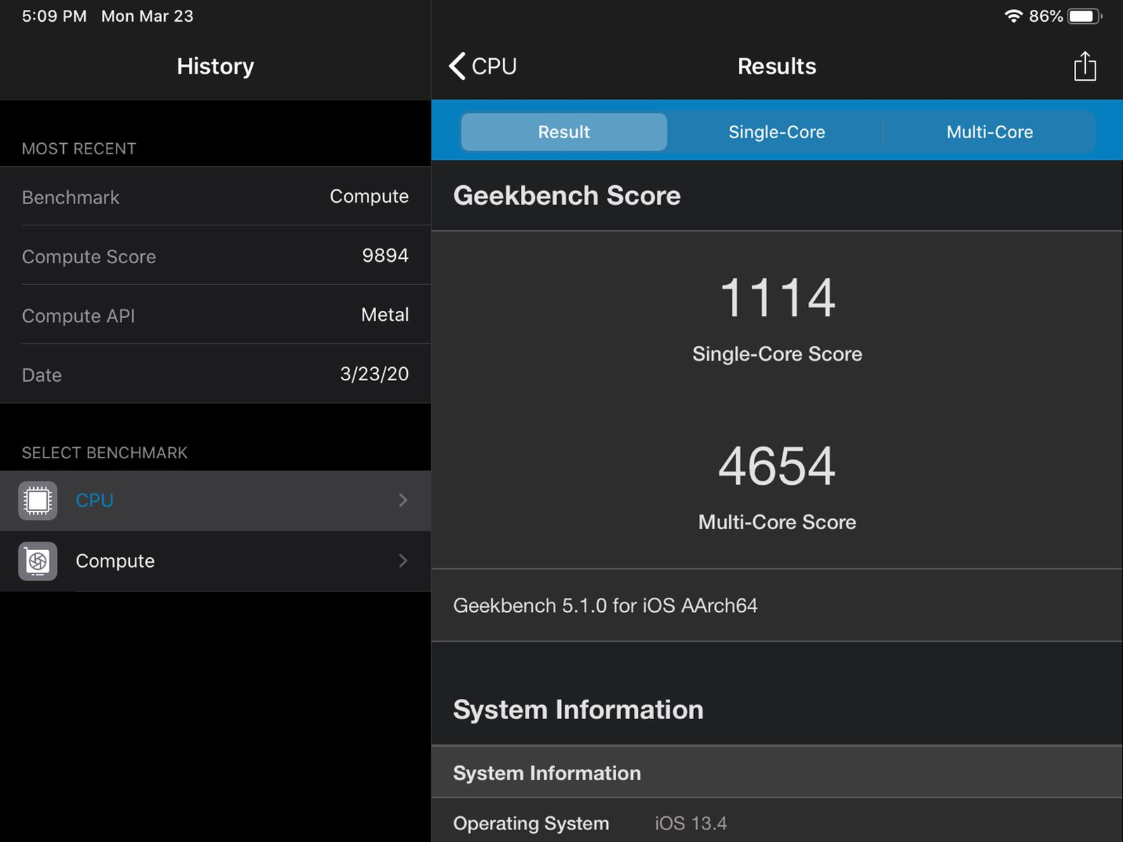 benchmarks suggest new ipad pro s a12z