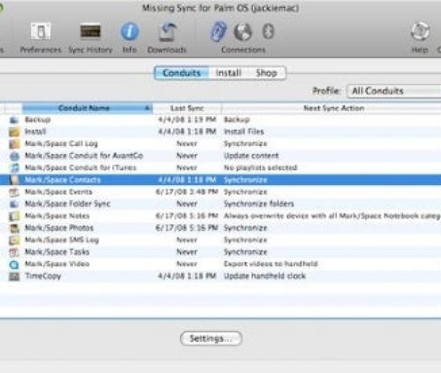 The Missing Sync Replaces Palms Moribund Sync Software And Works In Snow Leopard
