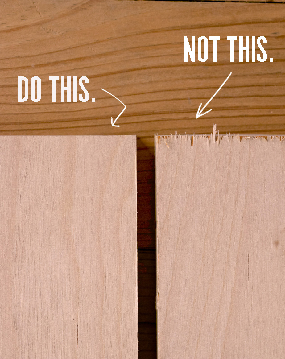 How To Cut Particle Board Without Splintering