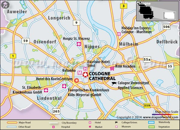 About Cologne Cathedral K246lner Dom in Germany Map