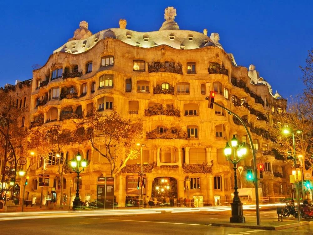 Casa Mila La Pedrera Barcelona Spain  Map Facts Location Guide
