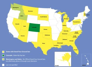 States with Stand Your Ground Law