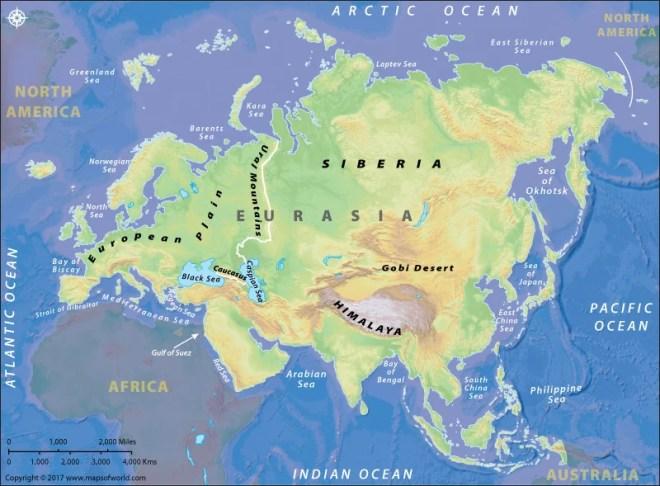 Map of Eurasia