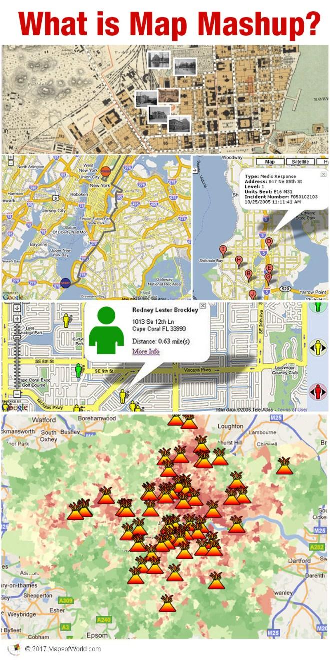 Collage defining a map mashup
