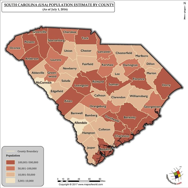 What is the Population of South Carolina Answers