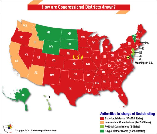 How Are Congressional Districts Drawn Answers - Us-house-of-representatives-map-by-state