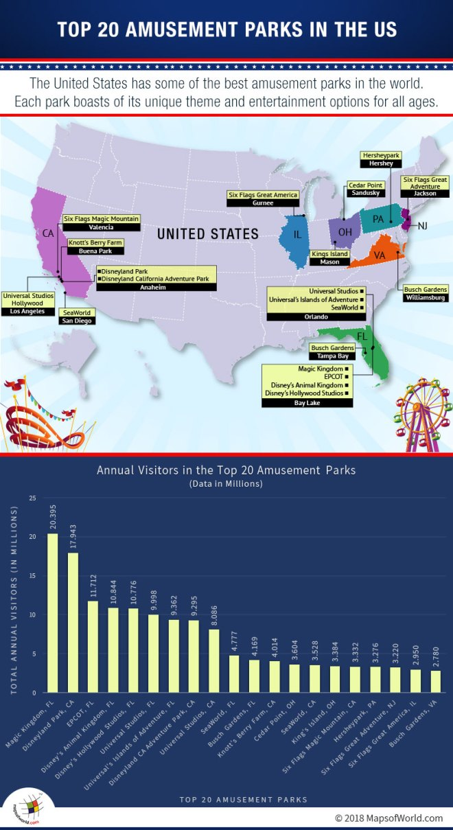 What Are The Top 20 Best Amusement Parks In The Us Answers - Map-of-amusement-parks-in-the-us
