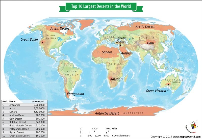 Sahara Desert World Map What are the Top 10 Largest Deserts in the World?   Answers