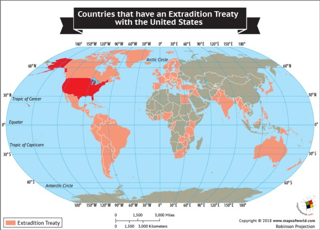 What countries have Extradition Treaty with the United States?