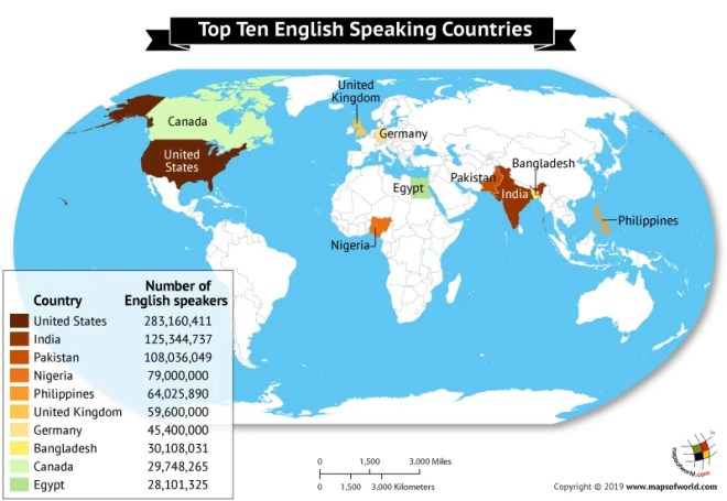 What are the Top 10 English Speaking Countries? - Answers United States And Egypt On World Map on united states globe map, show united states america map, united states usa travel map, united states state map of the world,