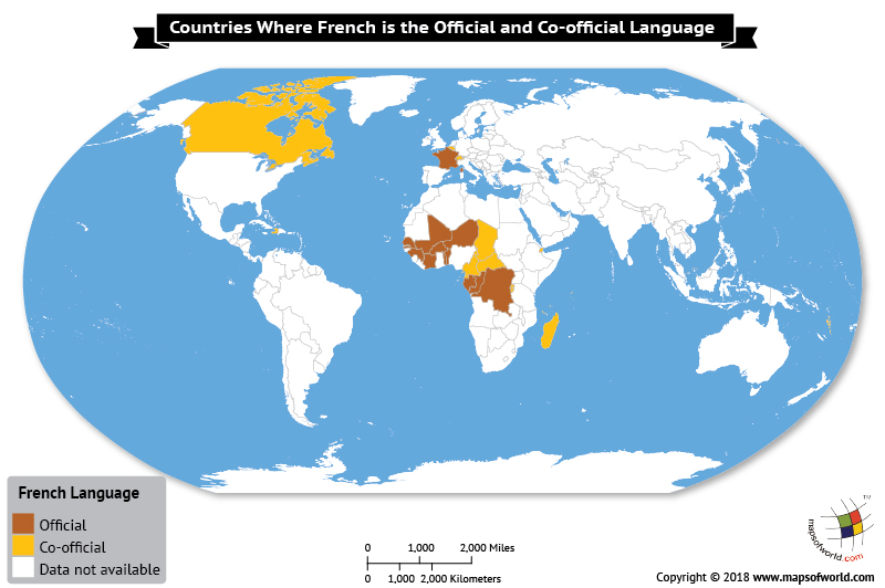 map of france in french language