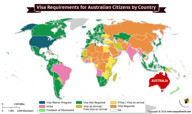 What Does Australia Look Like On A Map.What Are The Visa Requirements For Australian Citizens Answers