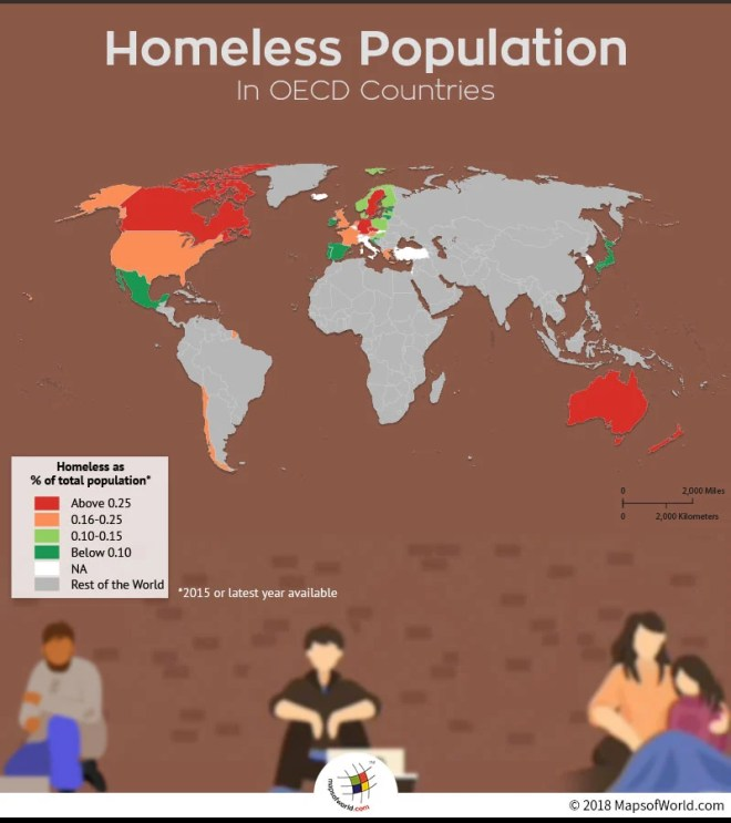 Homeless Population Rates in OECD Countries