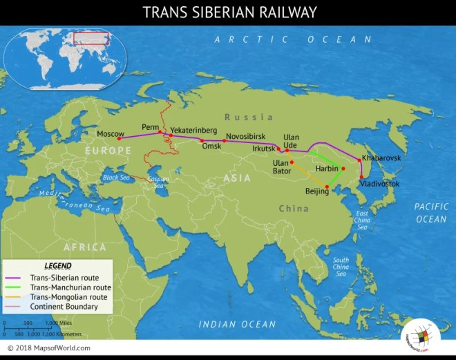 Asia Map Siberia.What Is The Trans Siberian Railway Answers