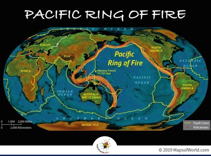 Map Highlighting The Pacific Ring of Fire