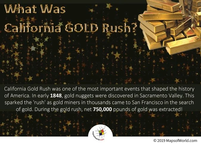 The Gold Nuggets were Discovered in Sacramento Valley in Early 1848.