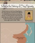 The Ming dynasty ruled China for more than two centuries