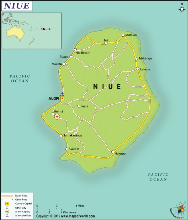 Map of the idland of Niue