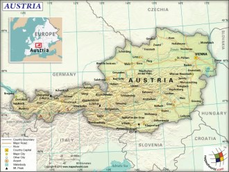 Map of Republic of Austria