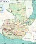 Map of Republic of Guatemala